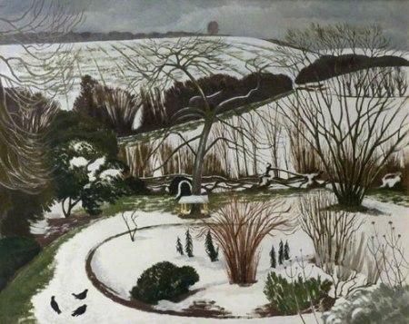 The Garden in Winter by John Northcote Nash