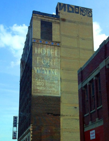 Hotel Fort Wayne/American Hotel Ghost Signs in Detroit
