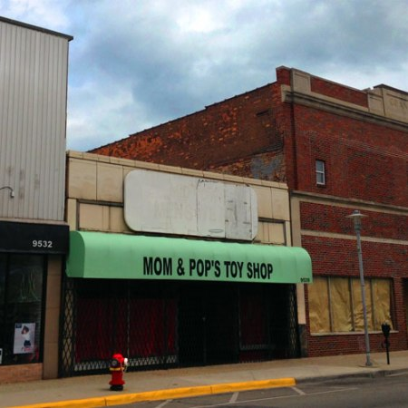 Mom & Pop's Toy Shop Ghost Sign in Hamtramck