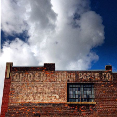 Ohio & Michigan Paper Co. Ghost Sign in Toledo